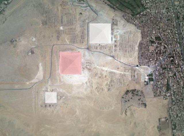 three Pyramids white